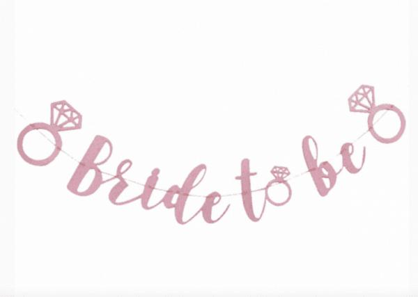 Банер Bride To Be в цвят розово злато - 300 см