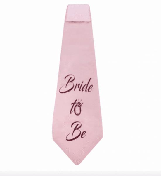 "Парти вратовръзка""Bride To Be"" в розово злато"