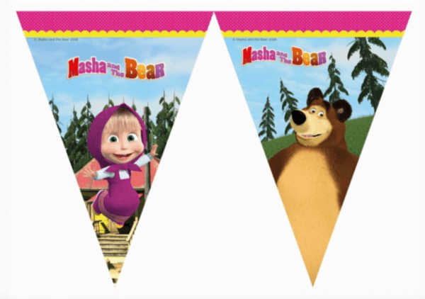 Маша и Мечока (Masha and the Bear) банер - 2.3 метра
