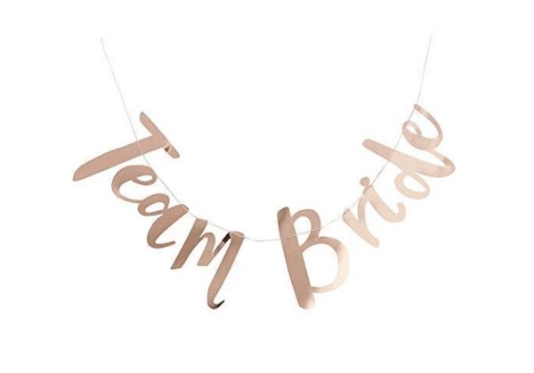 Банер Team Bride в розово злато -1,5 метра