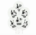 Сватбени балони с хелий Game Over - 13 броя