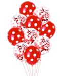 Балони комплект в червено - 10 броя с ХЕЛИЙ
