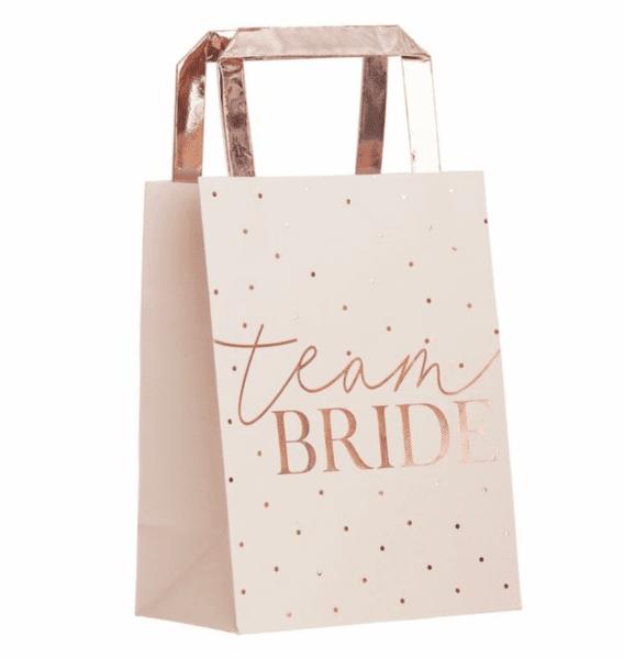 Торбички за подаръци  -  Team Bride - 5 броя в опаковка