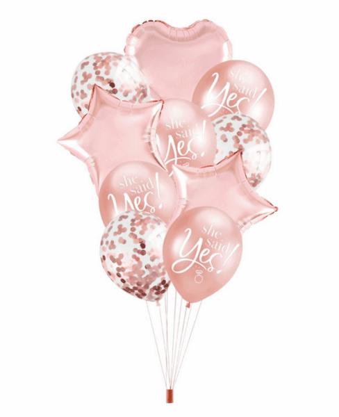 """Балони """"She Said YES"""" - 10 броя"""