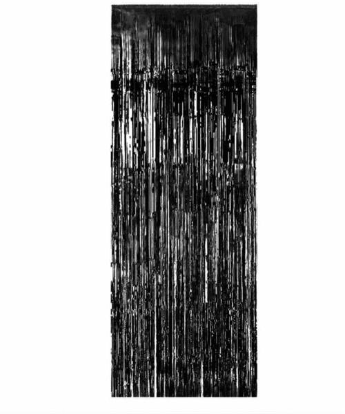 Лъскави ресни за декорация /фолио/- черни металик