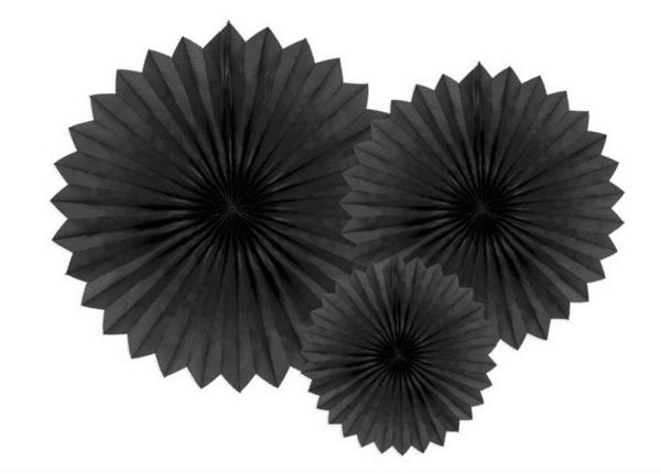 Парти декорация - Висящи Хартиени Розетки - 3 броя  - 20 - 30 - 40 см