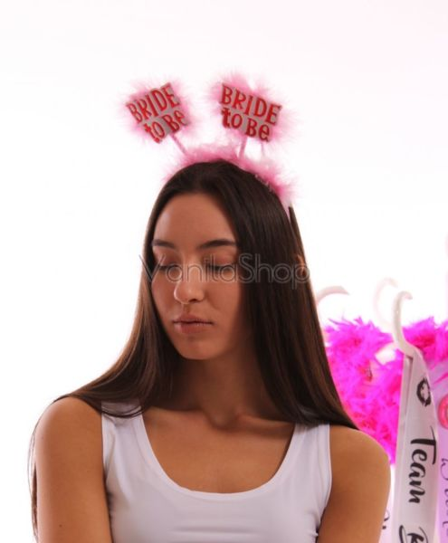 Розова забавна диадема за дискотека