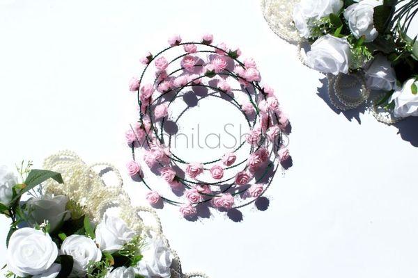 Розови венчета за моминско парти