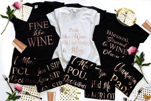ХИТ 2018 Тениски за парти. Wine Lovers
