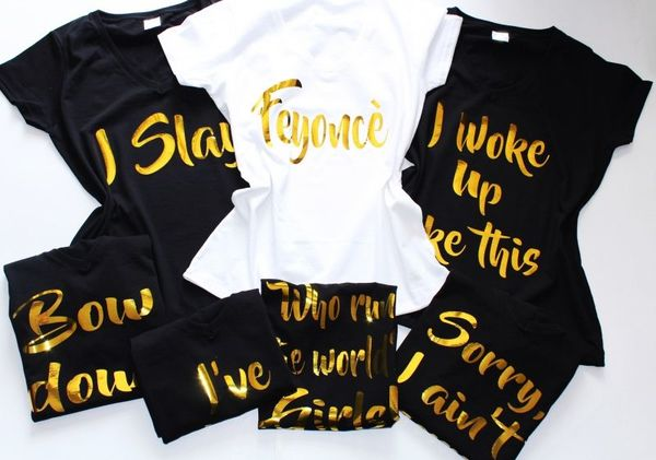 ХИТ 2018 Тениски за парти. FEYONCE - със забавни надписи от известни песни