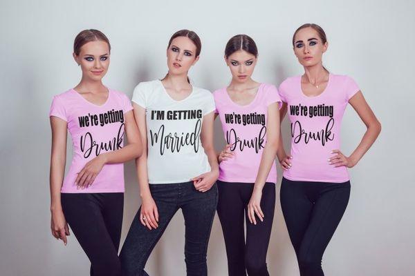 """Тениски за моминско парти """" Getting Drunk"""""""