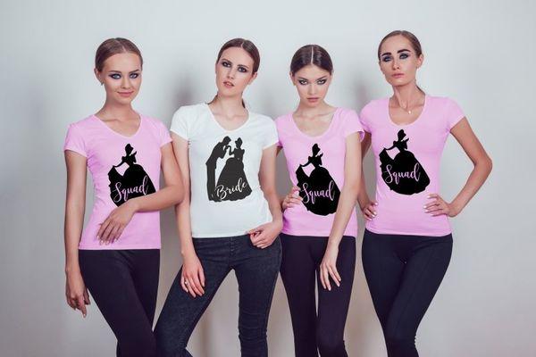 """Тениски за моминско парти """" Cinderella """""""