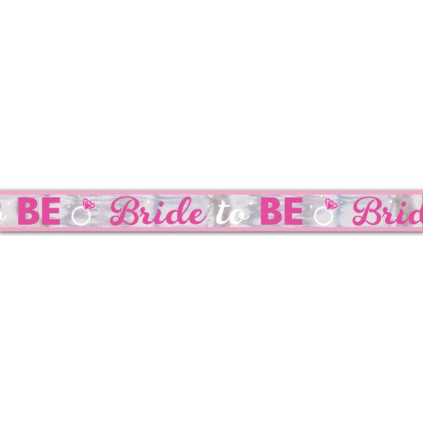 Бляскъв банер BRIDE TO BE - 7 м дълъг може да се реже и да се направи на няколко украси
