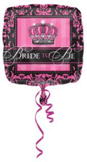 Голям Балон XL за моминско парти Bride To Be Crown - 46 см