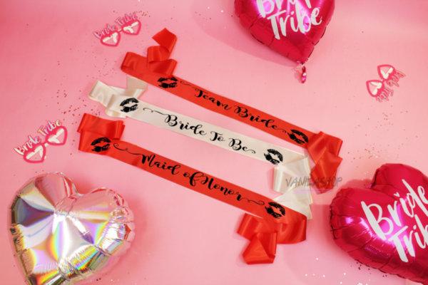 Ленти за моминско парти - Red Passion