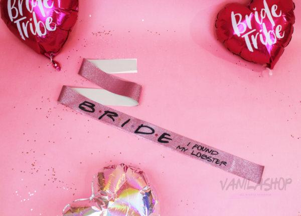 Луксозна Glitter Лента за моминско парти - розово злато