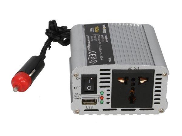 Инвертор за напрежение WHITENERGY, 12V USB, 150W