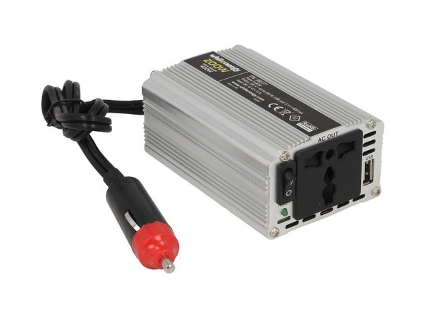 Инвертор за напрежение WHITENERGY, 12V USB, 200W