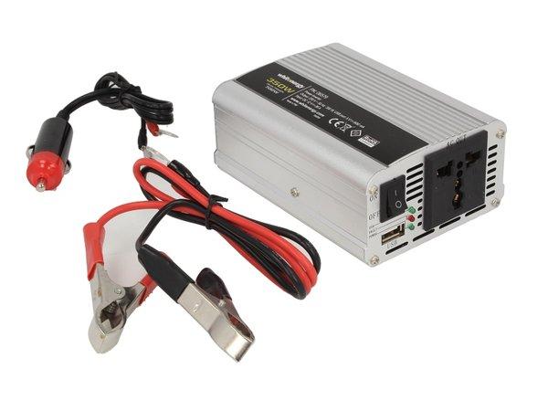 Инвертор за напрежение WHITENERGY, 12V USB, 350W