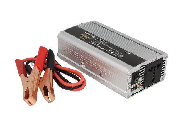 Инвертор за напрежение WHITENERGY, 24V USB, 400W