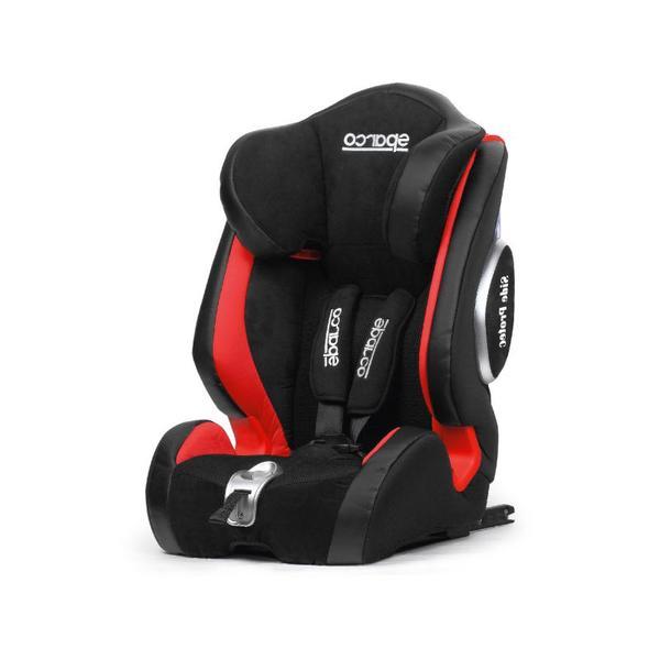 Детско столче за кола Sparco 9-36kg,черен/червен
