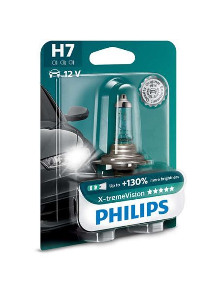 Халогенна крушка за фар Philips H7 Xtreme Vision, +130%, 12V, 55W, 1 брой