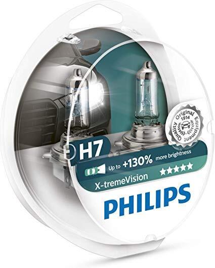 Комплект 2 халогенни крушки Philips H7 X-treme Vision, +130%, 12V, 55W