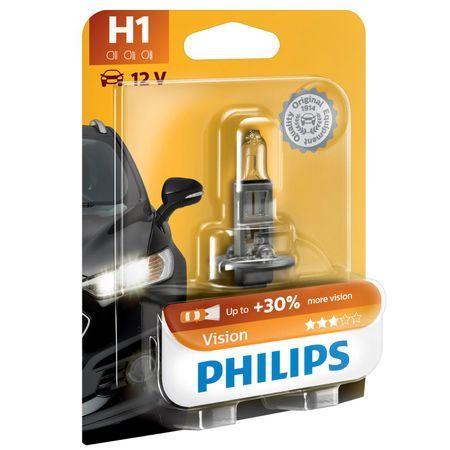 Халогенна крушка за фар Philips H1 Vision, +30%, 12v, 55w, 1 брой