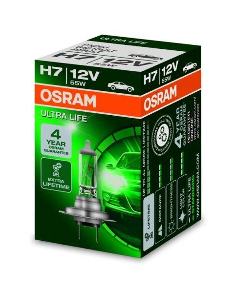 Халогенна крушка за фар Osram H7 Ultra Life  12V, 55W , 1бр.