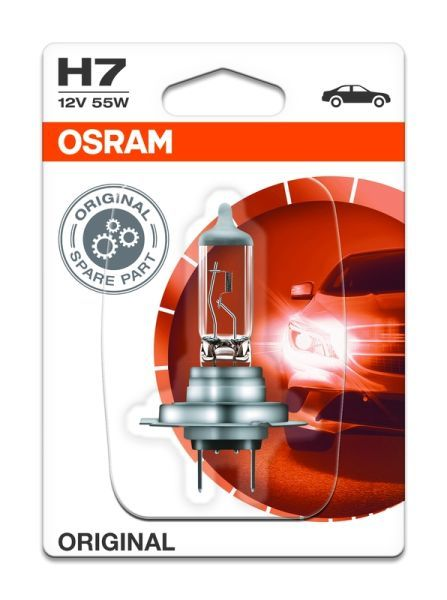 Халогенна крушка за фар Osram H7 Standard, 12V, 55W, 1 брой