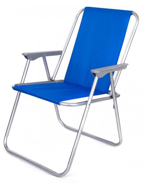 Градински стол , сгъваем , син