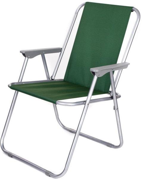 Градински стол , сгъваем , зелен