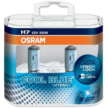 Комплект 2 халогенни крушки Osram H7 Cool Blue Boost +50% 12V, 80W