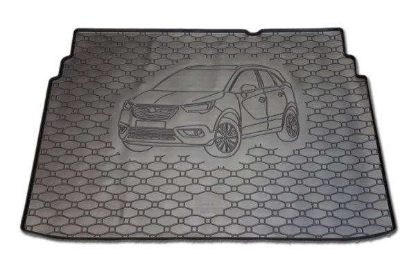 Гумена стелка багажник за Opel Crossland X 2017-
