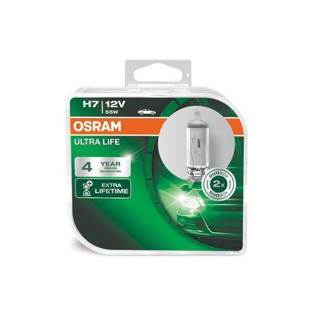 Комплект 2 броя халогенни крушки Osram H7 UltraLife 12V, 55W