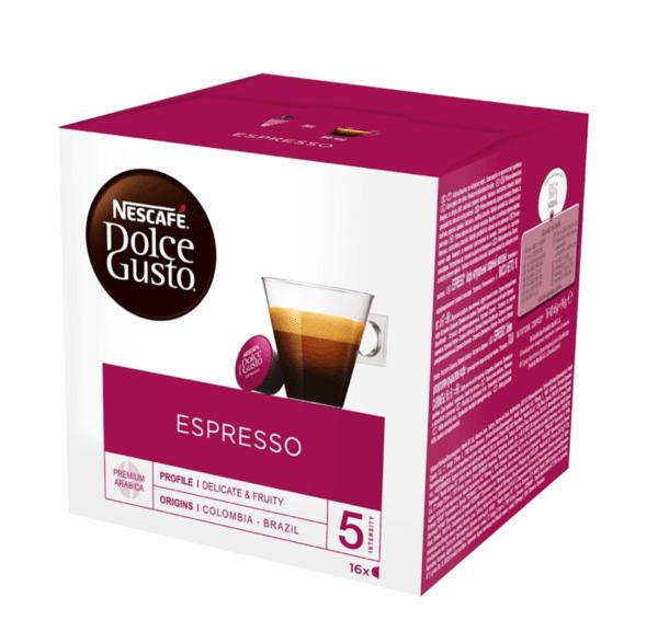 NESCAFÉ® Dolce Gusto® Espresso кафе капсули, 16 напитки.