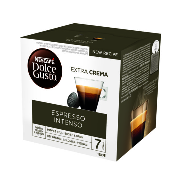 NESCAFÉ® Dolce Gusto® Espresso Intenso кафе капсули, 16 напитки.