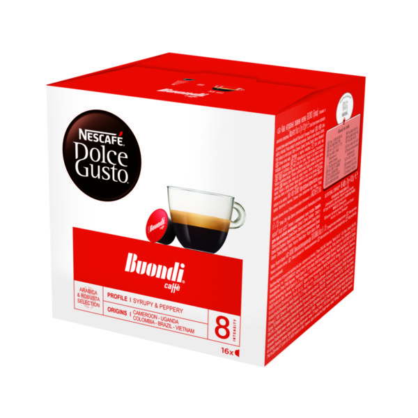 NESCAFÉ® Dolce Gusto® Buondi® кафе капсули, 16 напитки.