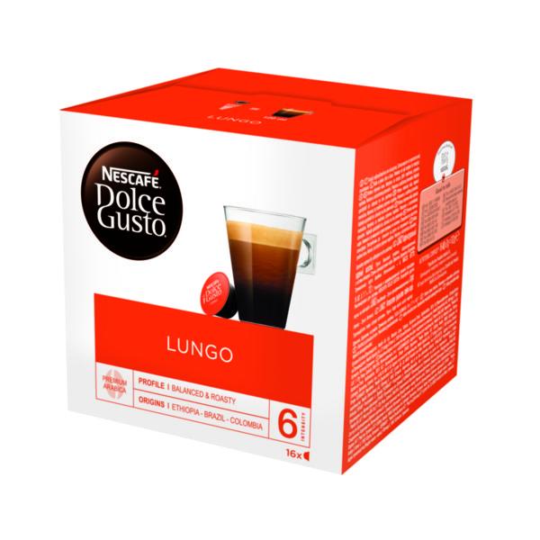 NESCAFÉ® Dolce Gusto® Lungo кафе капсули, 16 напитки.