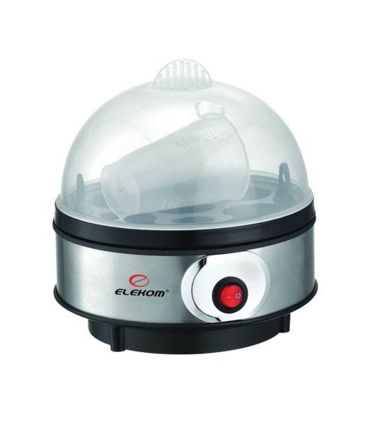 Яйцеварка Elekom EK-109 S/S, 7 яйца капацитет, мощност 350W