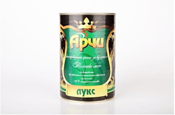 Храна за кучета Archie Лукс Консерва, Телешко месо , 1150g