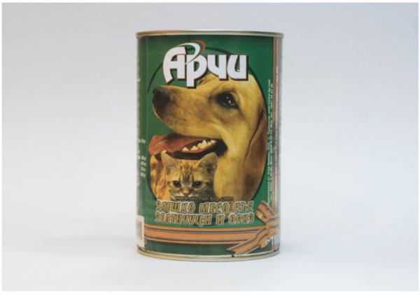 Храна за кучета Archie Консерва, Заешко месо с ориз и зеленчуци, 1150g