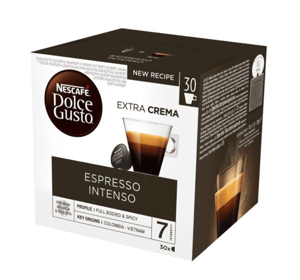 NESCAFÉ® Dolce Gusto® Espresso Intenso Magnum кафе капсули, 30 напитки.