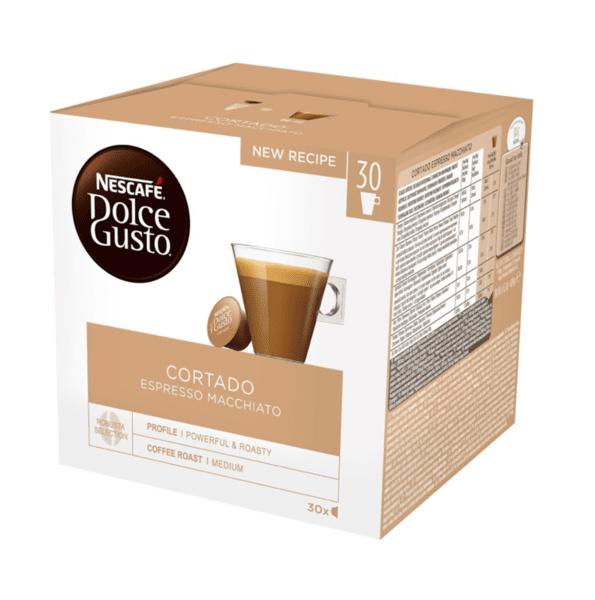 NESCAFÉ® Dolce Gusto® Cortado Espresso Macchiato Magnum кафе капсули, 30 напитки.