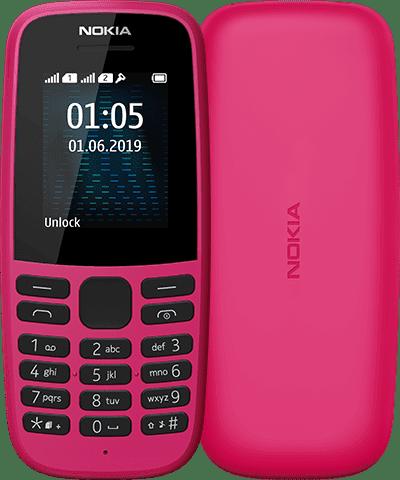 Nokia 105 (2019), Dual Sim, Розов