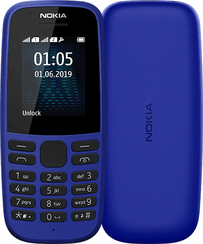 Nokia 105 (2019), Dual Sim, Син