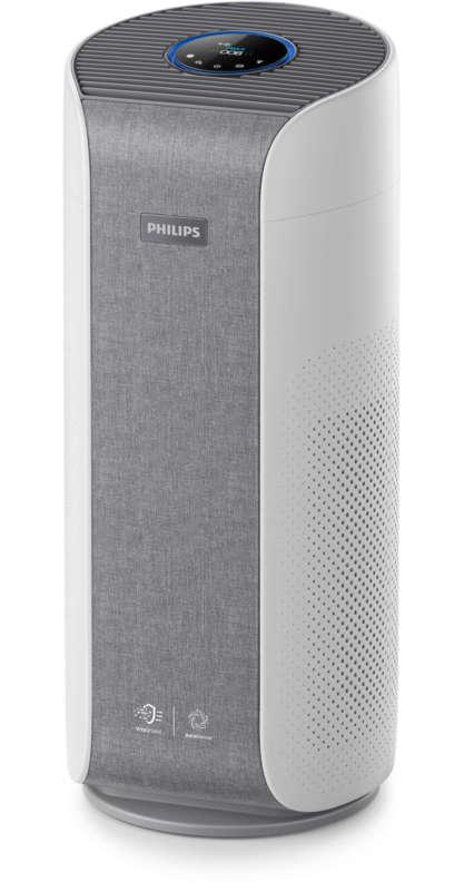 Philips Пречиствател на въздух Премахва 99, 9% от частици@3нм, Размер на стаята: до 60 м², PM2.5 инфо за газове/алергени