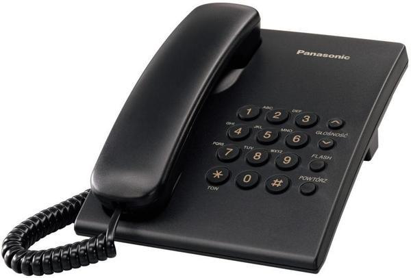 Стационарен телефон Panasonic KX-TS500, черен