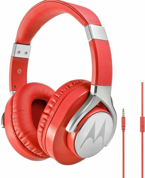 Слушалки Motorola Pulse Max, червени