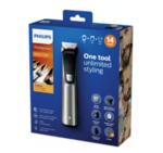 """Philips Тример Multigroom series 7000 """"14 в 1"""", лице, коса и тяло 14 инструмента, Технология DualCut, До 180 мин време на работа, Водоустойчив"""